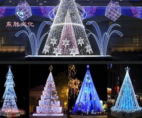 灯彩做树灯绕树灯圣诞树花造型兴和灯专业灯灯串圣诞装饰灯北京亚创百年建筑设计有限公司图片